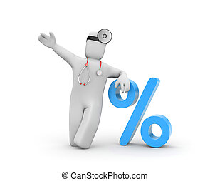 Discount for medical service Business metaphor
