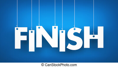Finish - word hanging on the ropes