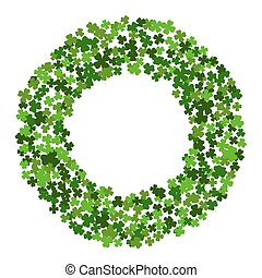 Circle frame with clover leaves. - Circle frame with clover...