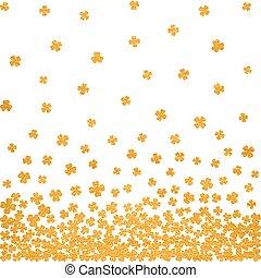 Gold seamless pattern for St. Patricks day. - Horizontal...