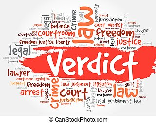 Verdict word cloud concept