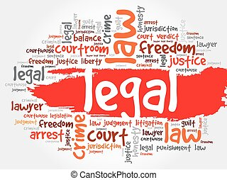Legal word cloud concept