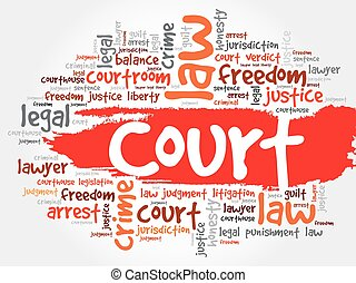 Court word cloud concept
