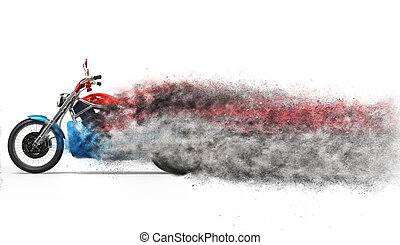 Bike - particle dispersion