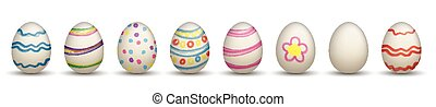 8 Nature Easter Eggs Header - 8colored easter eggs on the...