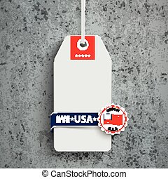 Price Sticker Made In USA Concrete - Price sticker with...