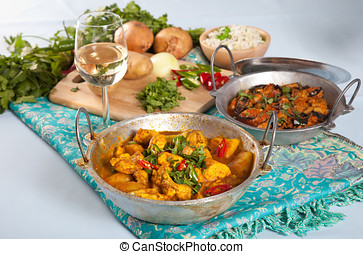 Indian dishes - Delicious Indian dishes on a table