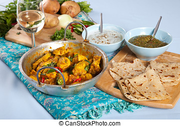 Chicken curry - Chickencurry dish with other indian...