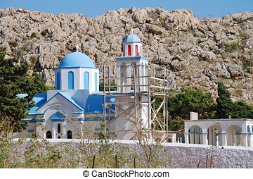 Emborio cemetery church, Halki - The domed church at Emborio...