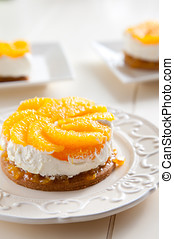 Orange tian - Sweet citrus dessert with oranges and cream