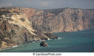 South Coast of the Black Sea, Cape Fiolent - Russia, Crimea,...