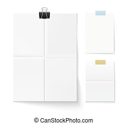 Set of paper pages
