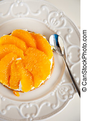 Orange tian - Delicious orange tian with fresh oranges