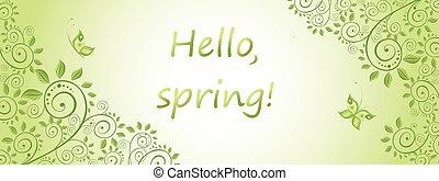 Spring green horizontal banner - Spring green horizontal...