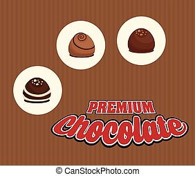 Chocolate icon design - Chocolate concept with icon design,...