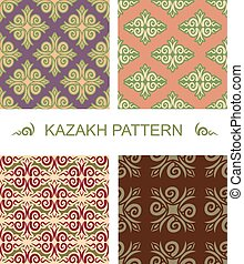 Kazakh pattern. Traditional national pattern of Kazakhstan....