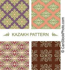 Kazakh pattern. Traditional national pattern of Kazakhstan....