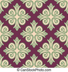 Kazakh pattern. Traditional national background of...