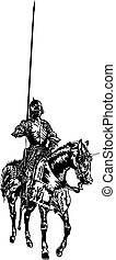 Knight on a Horse - Adobe ilustrator, Vector format EPS8....