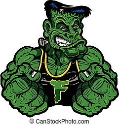frankenstein monster - muscular frankensteins monster design...