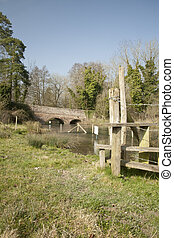The River Kennet near Denford Mill near Hungerford,...