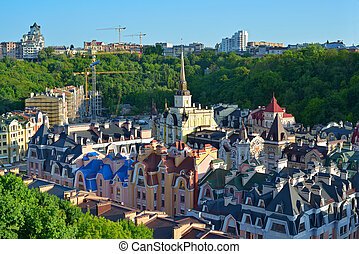 Vozdvizhenska and Honcharna street in Kiev - Kiev city....
