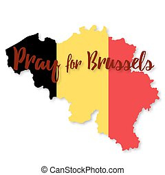Belgium flag design elements - Belgian flag overlaid on...