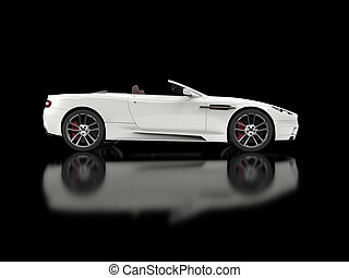 White convertible luxury sports car