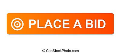 Place Bid Orange - Place Bid button with a ring or target...