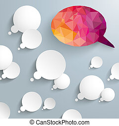 Thought Bubbles Low Poly Speech Bubbles - Thought bubbles...