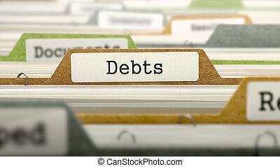 Debts - Folder Name in Directory - Debts - Folder Register...