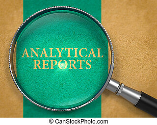 Analytical Reports through Loupe on Old Paper - Analytical...
