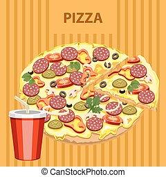 Big tasty pizza