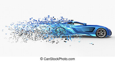 Supercar Pixelated Disintegration