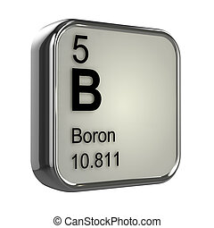 3d Boron Periodic Table of Elements entry - 3d render of a...