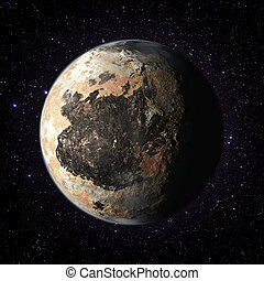 Fantasy Exo Planet isolated galaxy space
