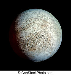 Europa Planet Solar System space isolated illustration