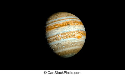 Jupiter Planet Solar System space isolated illustration