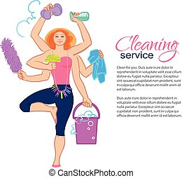 harvest goddess. Cleaning service. - Cleaning services. The...