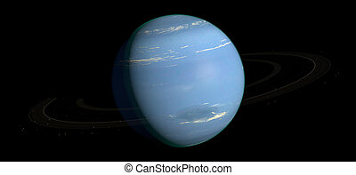 Neptune Planet Solar System space isolated illustration