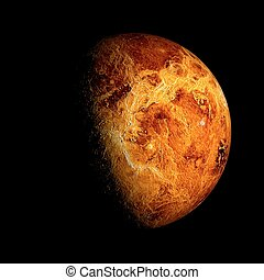 Venus Planet Solar System space isolated illustration