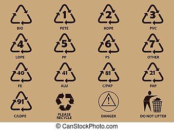Set Of Packaging Symbols