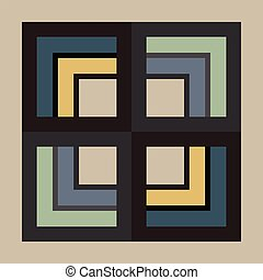 Abstract Modern Pattern Created from Repetitive Shapes -...