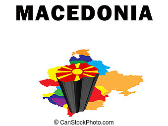 Macedonia - Outline map of Eastern Europe with Macedonia...