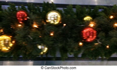 Dynamic View on a Christmas decoration Long Distance of...