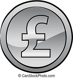 British pound sterling coin vector - Vector illustration of...
