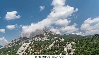 Clouds over mountains time lapse - Clouds over Crimea...