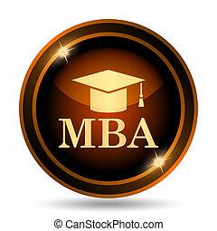 MBA icon. Internet button on white background.
