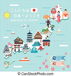 Japan travel map - lovely Japan travel map - Hello and...