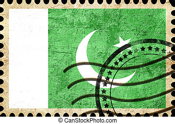 Pakistan flag with some soft highlights and folds